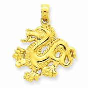 Little Treasures - 14 ct Gold Dragon Pendant