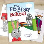 Personalised First Day at School Story Book A4 Paperback