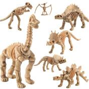 Ularma 12 Pcs Simulated Dinosaur Model Skeleton Kids Children Educational Toy Gift