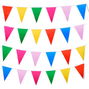 Mudder Multicolor Plastic Bunting Banner Double Sided Indoor/ Outdoor Party Decoration