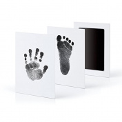 FTXJ Baby Handprint Footprint Makers Non-Toxic Clean-Touch Ink Pad Newborn Keepsake Kit