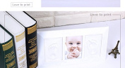 Baby Handprint & Footprint frame,Baby Shower Decorations Kit,Safe Acrylic Glass frame,Durable-Best baby shower gift