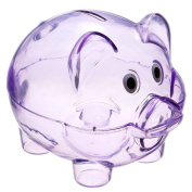 TOOGOO(R) Cute Plastic Pig Clear Piggy Bank Coin Box Money Cash Saving Case Kids Toy Gift