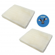 HQRP 2-Pack Wick Filter for Gerry 650 / Touch Point KS55EE-06A Humidifiers plus HQRP Coaster