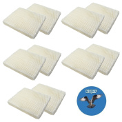 HQRP 10-pack Wick Filter for Holmes HM250 HM405 HM406 HM650 HM725 HM726 HM730 Humidifiers, HWF-55 / HWF55 Replacement + HQRP Coaster