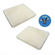 HQRP 2-Pack Wick Filter for Holmes HM250 HM405 HM406 HM650 HM725 HM726 HM730 Humidifiers, HWF-55 / HWF55 Replacement + HQRP Coaster