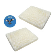 HQRP 2-Pack Wick Filter for Holmes HM1000 HM1025 HM1050 HM2000 HM1550 HM1555 Humidifiers, HWF-55 HWF55 H55-C Replacement + HQRP Coaster