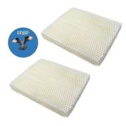 HQRP 2-Pack Wick Filter for Vornado 221, 232, 421, 432, HU1-0021, HU1-0006-11, HU1-0007-11, 3120-900 Humidifiers + HQRP Coaster