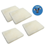 HQRP 4-pack Humidifier Wick Filter for Super 43-5014-6 Replacement fits Super RW-3 RW3, Super 43-5014-6, Super 43-5024-2 + HQRP Coaster