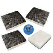 HQRP 4-pack Humidifier Wick Filter for Bionaire C22, C33, W2, W2S, W6, W6H, W6S, W7, W9, W9H, W9S Humidifiers, part 900 900CS Replacement + HQRP Coaster