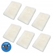 HQRP 6-pack Humidifier Wick Filter for Graco 2H01 Replacement fits Graco 2H00 / TrueAir 05510 Cool Mist 5.7l Humidifiers + HQRP Coaster
