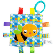 Canghai Baby Appease Towel Baby Calm Blanket Comforting Toy Crinkle Me Toy for 0-3 Years Old Babies Bee