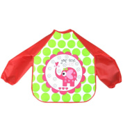 TRENDINAO Waterproof Baby Toddler Kids Boys Girls Long Sleeve Feeding Art Apron Bib Smock