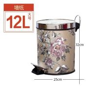 trash can Xiuxiutian Home foot with cover trash can ,P,12L