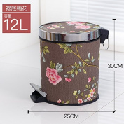 trash can Xiuxiutian European-style foot with cover large litter bins ,N,12L