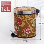 trash can Xiuxiutian European-style foot with cover large litter bins ,L,12L