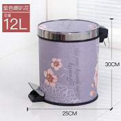 trash can Xiuxiutian European-style foot with cover large litter bins ,Q,12L