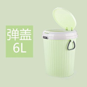 Dustbins Xiuxiutian Pop-covered with cover with lid ,B,6L large
