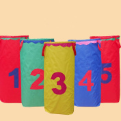 Potato Sack Race Bags Gunny Bag 60cm x 46cm Hopping Jumping Outdoor Party Game & Sport Day for Children - 5pcs