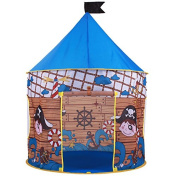 Pirate Hideout Play Tent - Kids play tent for indoors or outdoors. Wendy house for the beach or garden. This children's tent is the perfect beach tent for boys and girls. Kids Pirate Tent design and free Carry bag.