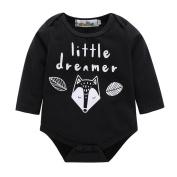 0 - 12 Months Odeer Casual Newborn Toddler Baby Boys Girls Cartoon Fox Romper Jumpsuit Outfits Cotton Cute Clothes