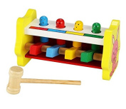 Pound & Tap Wooden Pounding Bench Toy Game with Mallet