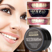 CieKen Natural Organic Activated Charcoal Teeth Whitening Powder Teeth Whitening Charcoal Bamboo Toothpaste for Stronger Healthy Teeth and A Whiter Smile
