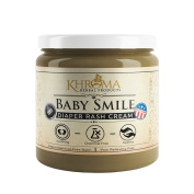 Baby Smile - Organic Soothing Nappy Rash Cream - 60ml in Glass Bottle - With Lavender, Calendula Flowers, Shea Butter