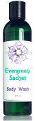 Evergreen Sachet Body Wash - Evergreen and Sweet Floral Fragrance - Sudsy Natural Formula