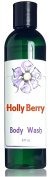 Holly Berry Body Wash - Bright Holiday Greenery and Berry Fragrance - Sudsy Natural Formula