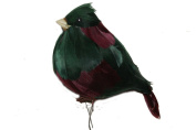 Major the Chubby Hunter Green/Burgandy Bird 18cm