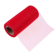 25Yards/Lot 15cm Tissue Tulle Roll Paper Wedding Decoration Spool Craft Birthday Party Baby Shower Wedding Decor Supplies - red