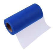 25Yards/Lot 15cm Tissue Tulle Roll Paper Wedding Decoration Spool Craft Birthday Party Baby Shower Wedding Decor Supplies - royal blue