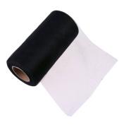 25Yards/Lot 15cm Tissue Tulle Roll Paper Wedding Decoration Spool Craft Birthday Party Baby Shower Wedding Decor Supplies - Black