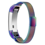Fitbit Alta and Fitbit Alta HR Bands, Simpeak Milanese Stainless Steel Strap Band for Fitbit Alta & Fitbit Alta HR, Pearlescent