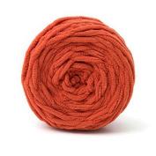 Celine lin One Skein Super Soft Baby Blanket Big Warm Scarf Yarn Crochet Yarn,Brick red