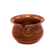 Darn Good Yarn Curvy Handmade Wooden Yarn Bowl, Indian Rosewood, 10cm x 15cm