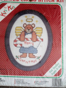 Counted Cross Stitch Kit ... Merry Christmas ... Kits for Kids w/ frame