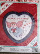 Counted Cross Stitch Kit ... Peace on Earth ... Kits for Kids w/ Frame
