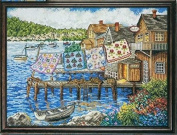 Dockside Homes 14ct,220x165 stitch 50x40cm Egyptian cotton thread counted cross stitch kits