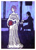 The Young Singer by Artist Wassily Kandinsky Counted Cross Stitch Pattern
