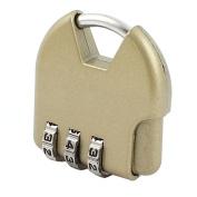 Unique Bargains Jewellery Box Resettable 3 Digits Combination Code Password Padlock Bronze Tone