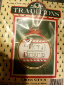 "Traditions Cross Stitchwith Frame ""Merry Christmas"""