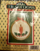 Traditions Candle Cross Stitch Kit and Frame