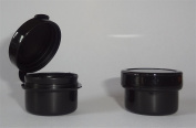 3-gramme Black Hinged Plastic Jar / Bag of 100