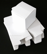 20 White Small Cardboard Boxes Box Mailing Storage Packing Cartons Jewellery Craft