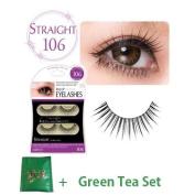 D.U.P False Eyelashes - Straight 106