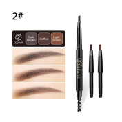 JuanYa 3 In 1 Eyebrow Pencil Long Lasting Double-end Rotatable Eyebrow Pen With Brush