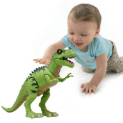 Funmily Electronic Walking Dinosaur Tyrannosaurus Rex Toy for Kids Realistic Voice and Colourful Lights,Vivid Movement Educational Animal Model