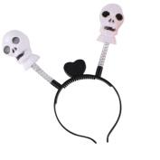 Kanzd Halloween LED Luminous HeadBand Pumpkin Skull Light Party Props Headbands Party